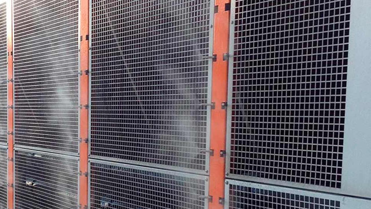Адиабатическое охлаждение воздуха на производстве от ES-Engineering