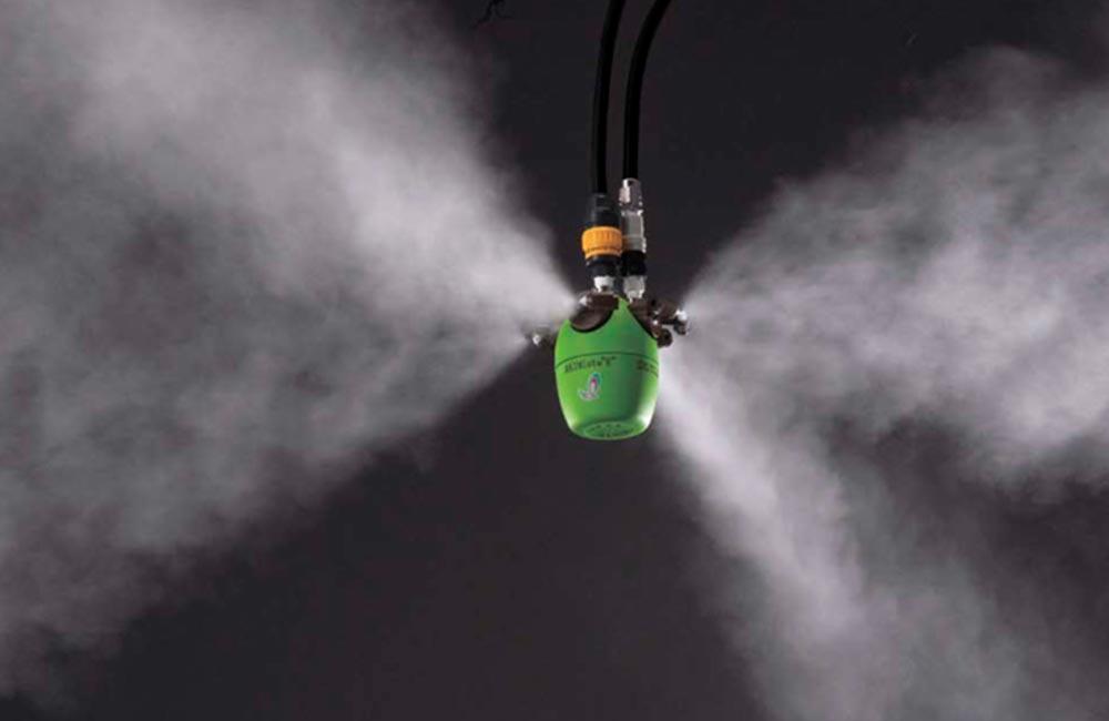 Увлажнители «Сухой туман». Системы увлажнения воздуха туманом. Применяется на производствах