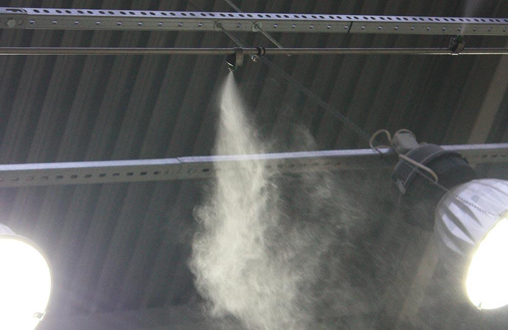 Системы увлажнения высокого давления открытого типа для увлажнения в промышленных помещениях.