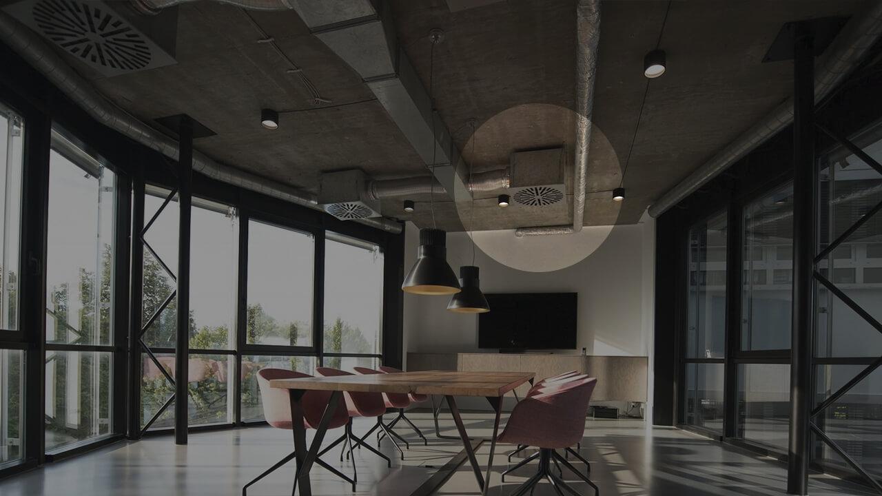 Увлажнения воздуха в офисах. Канальные увлажнители. Увлажнение в вентиляции над рабочей зоной.